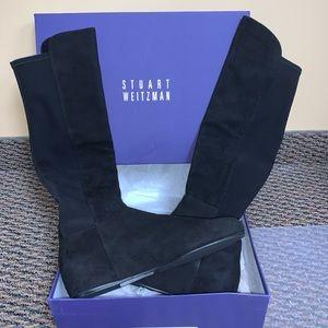 Stuart Weitzman over the knee black suede boots